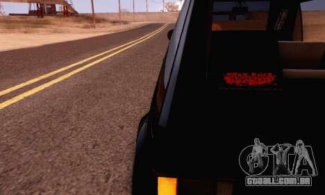Volkswagen Golf Mk I Punk para GTA San Andreas vista direita
