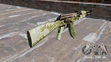 A AK-47 camo Verde para GTA 4 segundo screenshot