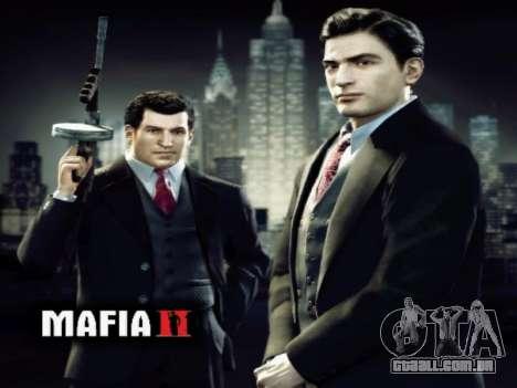 Tela de inicialização do Mafia II para GTA San Andreas terceira tela