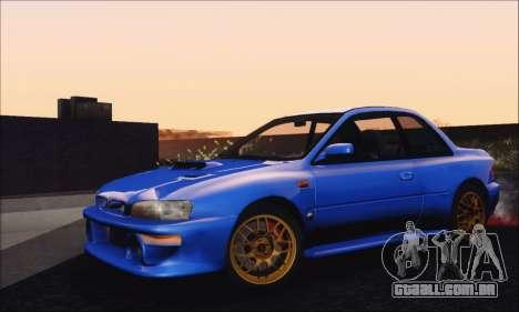 Subaru Impreza 22B STi 1998 para GTA San Andreas traseira esquerda vista