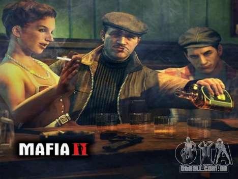Tela de inicialização do Mafia II para GTA San Andreas quinto tela