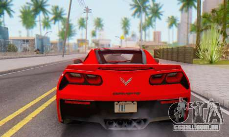 Chevrolet Corvette Stingray C7 2014 para GTA San Andreas vista traseira