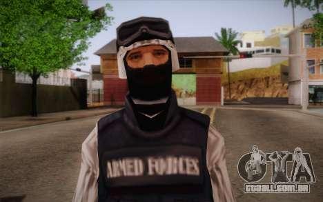 SWAT Snow Camo para GTA San Andreas terceira tela