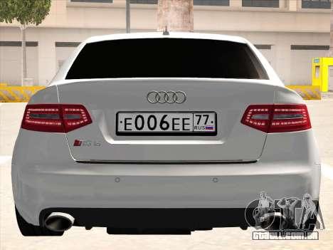 Audi RS6 para GTA San Andreas vista interior