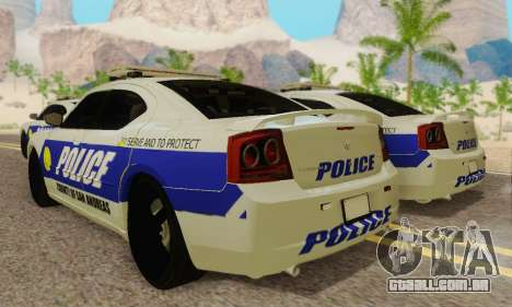 Pursuit Edition Police Dodge Charger SRT8 para GTA San Andreas vista traseira