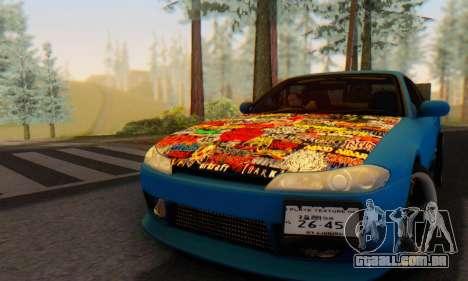 Nissan Silvia S15 Metal Style para GTA San Andreas traseira esquerda vista