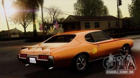 Pontiac GTO The Judge Hardtop Coupe 1969 para GTA San Andreas esquerda vista