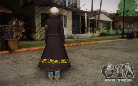 One Piece Trafalgar Law para GTA San Andreas segunda tela