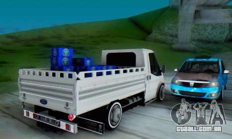 Ford Transit Pikap para GTA San Andreas vista direita
