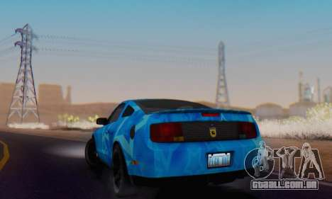 Ford Mustang Shelby Blue Star Terlingua para GTA San Andreas vista traseira
