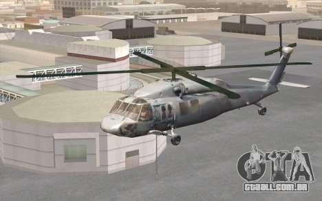 UH-60 Blackhawk para GTA San Andreas vista direita