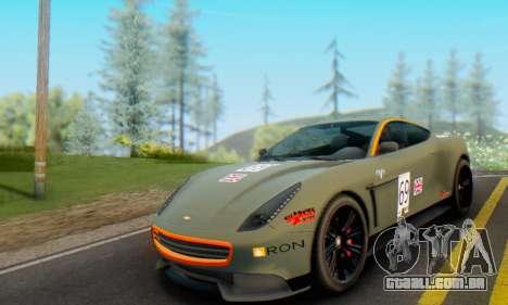 Dewbauchee Massacro 1.0 para GTA San Andreas vista interior