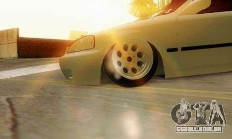 Honda Civic ek Coupe Hellaflush para GTA San Andreas vista direita