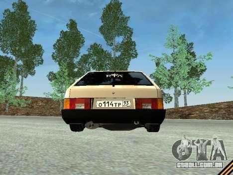VAZ 2109 para vista lateral GTA San Andreas