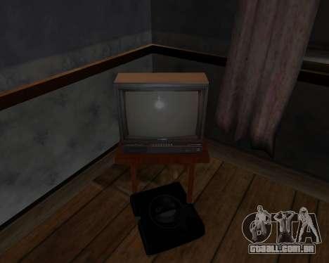 Tv em cores de alfa-TC- para GTA San Andreas por diante tela