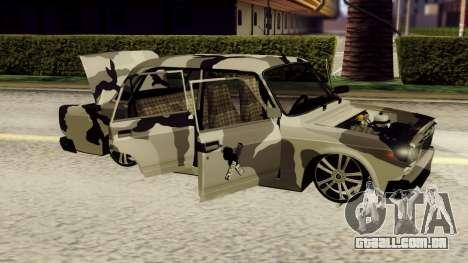 VAZ 2107 em camuflagem para GTA San Andreas esquerda vista
