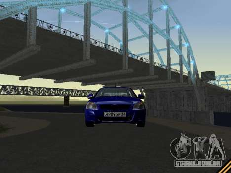 Lada 2170 Priora para GTA San Andreas vista superior
