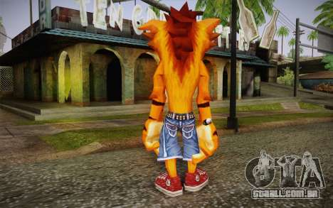 Crash Bandicoot (Crash Of The Titans) para GTA San Andreas segunda tela