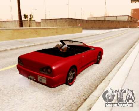 Elegia Convertible v1.1 para GTA San Andreas esquerda vista