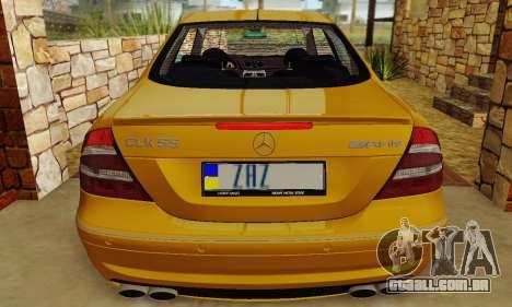 Mercedes-Benz CLK55 AMG 2003 para GTA San Andreas vista superior