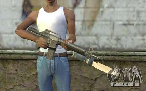 M4A1 com uma baioneta para GTA San Andreas terceira tela