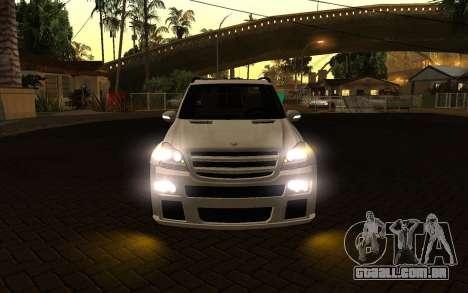 Mercrdes-Benz GL500 para GTA San Andreas vista interior