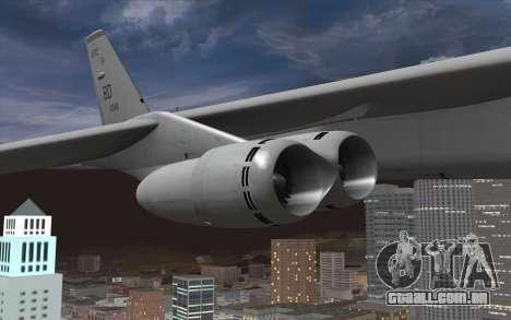 Boeing B-52H Stratofortress para GTA San Andreas vista direita