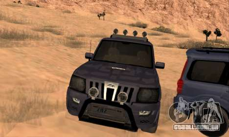 Mahindra Scorpio para GTA San Andreas vista inferior
