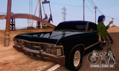 Chevrolet Impala 1967 Supernatural para GTA San Andreas vista direita