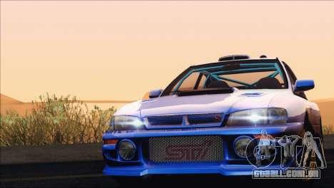 Subaru Impreza 22B STi 1998 para GTA San Andreas vista superior