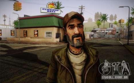 Kenny из The Walking Dead para GTA San Andreas terceira tela