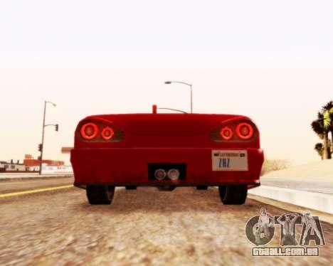 Elegia Convertible v1.1 para GTA San Andreas traseira esquerda vista