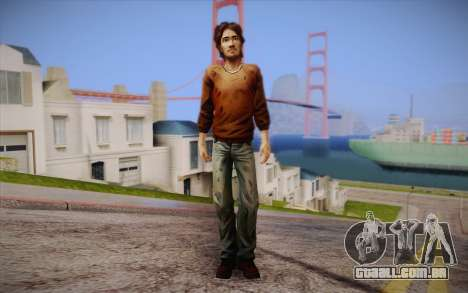 Lucas из The Walking Dead para GTA San Andreas