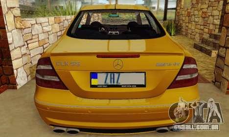 Mercedes-Benz CLK55 AMG 2003 para GTA San Andreas vista interior