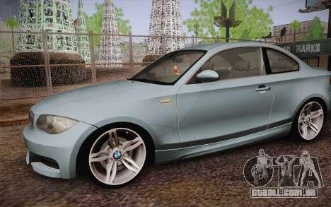 BMW 135i Limited Edition para vista lateral GTA San Andreas