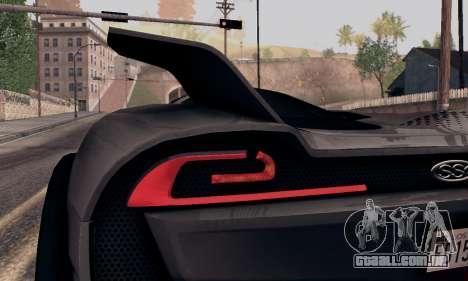 SSC Tuatara 2011 para GTA San Andreas vista traseira
