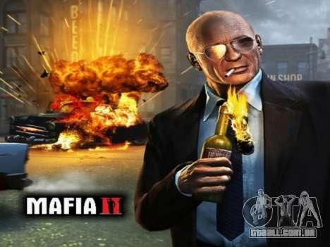 Tela de inicialização do Mafia II para GTA San Andreas segunda tela