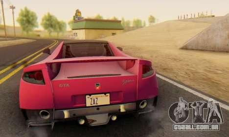 GTA Spano 2014 HQLM para GTA San Andreas vista superior