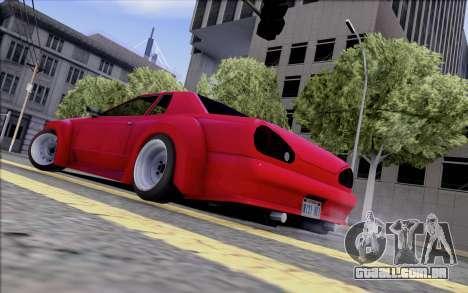 Elegy Rocket Bunny para GTA San Andreas traseira esquerda vista