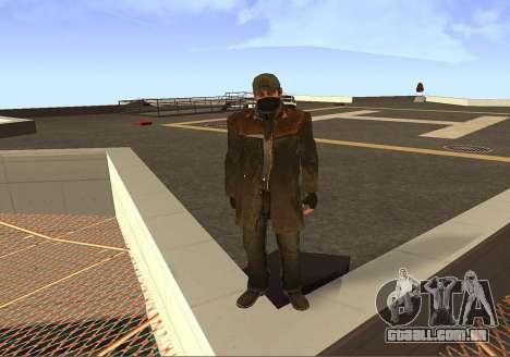 Aiden Pearce para GTA San Andreas por diante tela