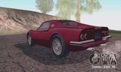 Ferrari Dino 246 GTS Coupe para GTA San Andreas esquerda vista