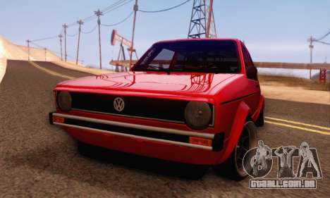 Volkswagen Golf Mk I Punk para GTA San Andreas traseira esquerda vista