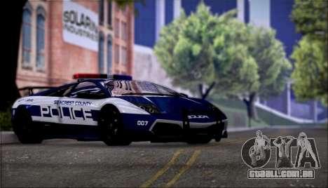 Lamborghini Críticos LP670-4 SuperVeloce, 2010 para GTA San Andreas vista traseira