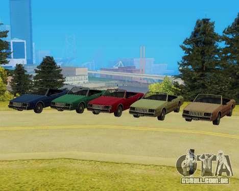 Majestic Conversível para GTA San Andreas traseira esquerda vista