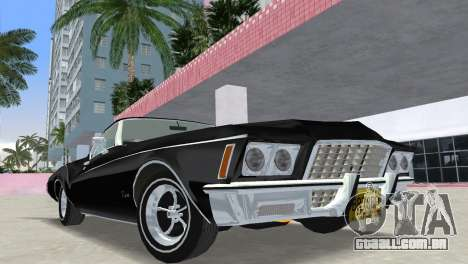 Buick Riviera 1972 Boattail para GTA Vice City vista traseira