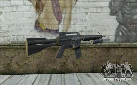 M4A1 com uma baioneta para GTA San Andreas segunda tela