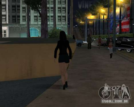 Black Dressed Girl para GTA San Andreas por diante tela