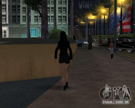 Black Dressed Girl para GTA San Andreas por diante tela