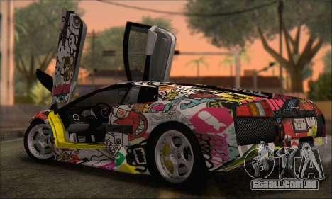 Lamborghini Murcielago 2005 Mesmas Edições HQLM para GTA San Andreas traseira esquerda vista
