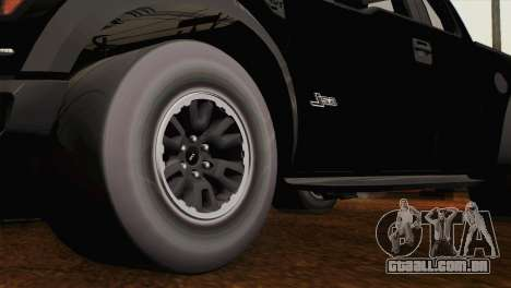 Ford F-150 SVT Raptor 2011 para GTA San Andreas vista direita